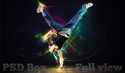 Create a light dancer photoshop