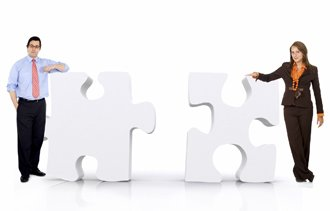 business partnership - puzzle