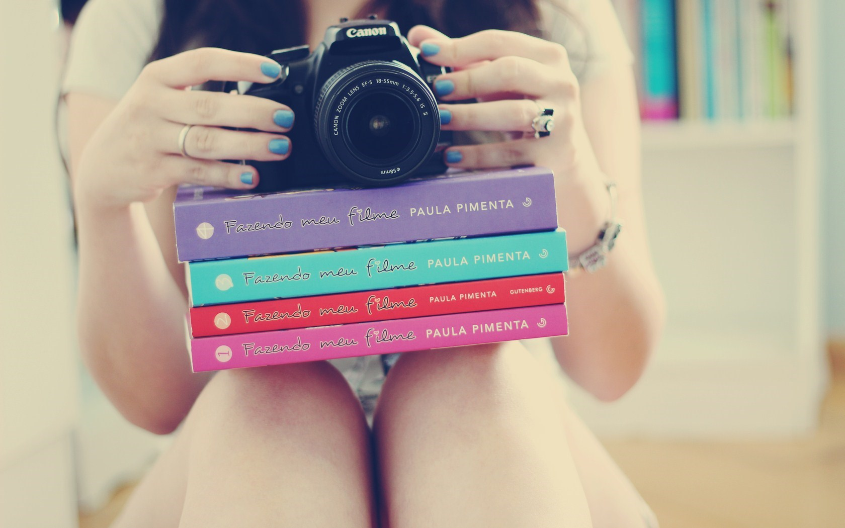stack-of-books-girl-canon-dslr-camera-blue-nails-hd-wallpaper