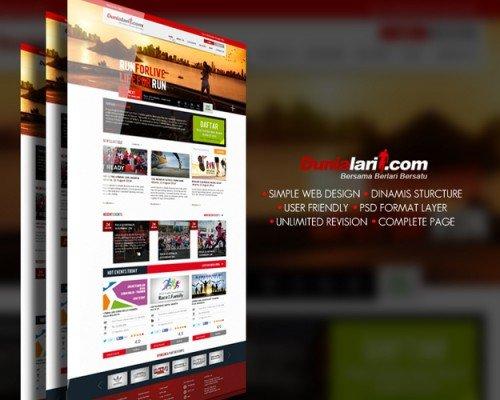 awee prasetya - desain website untuk organisasi manajemen lomba lari