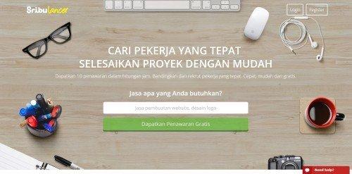 Homepage Sribulancer terbaru