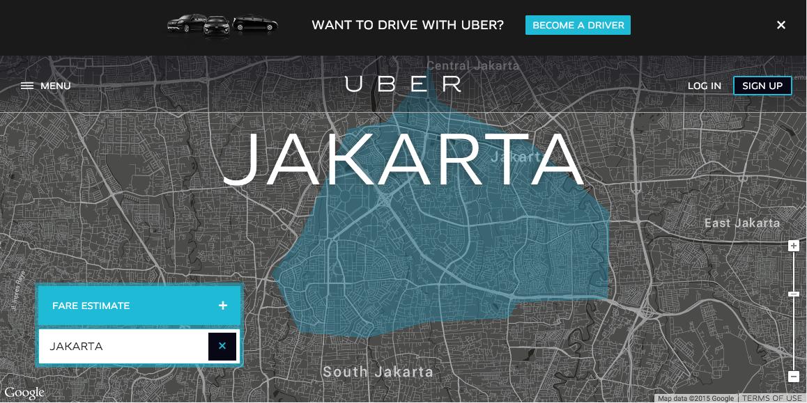 Uber Jakarta, versi lokal dari Uber Global