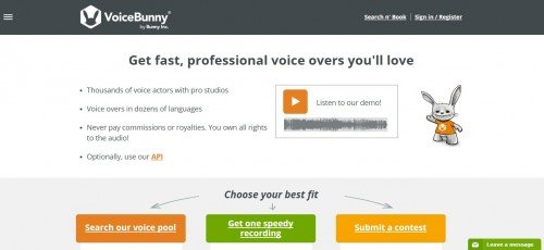 Website VoiceBunny