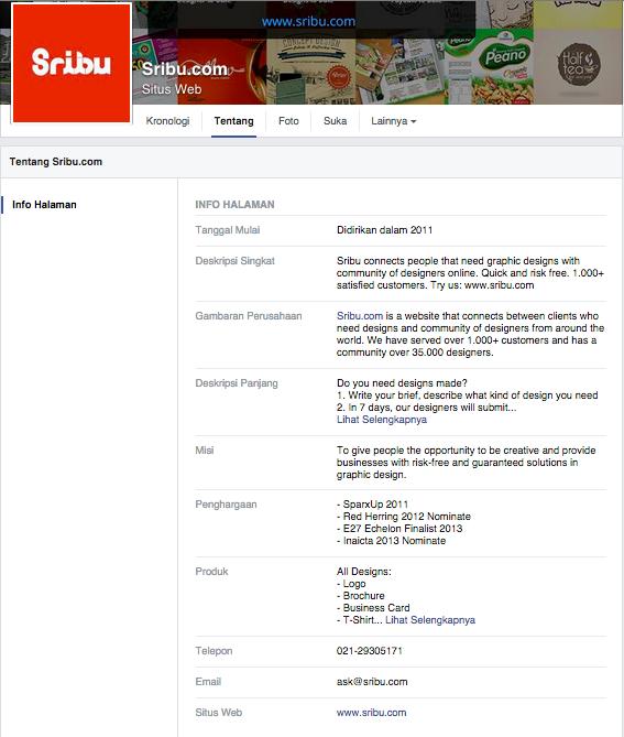 Profile Pages Facebook Sribulancer