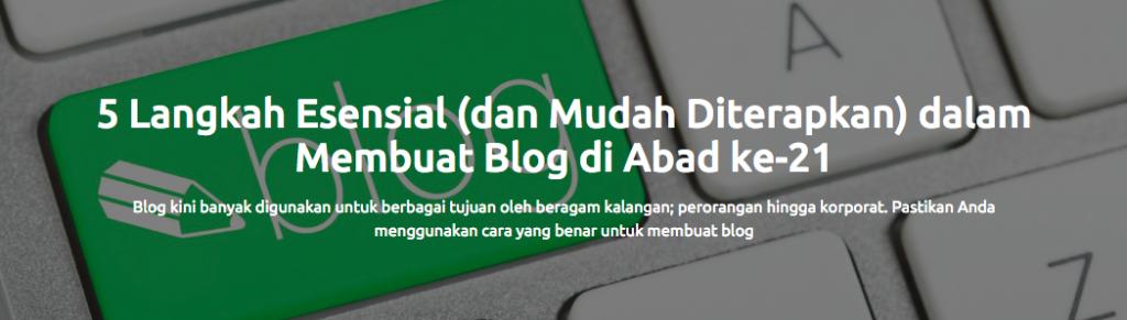 Contoh headline postingan blog Sribu