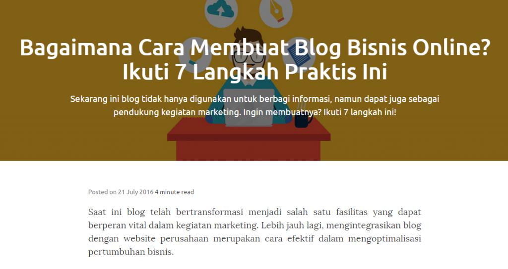membuat blog bisnis online