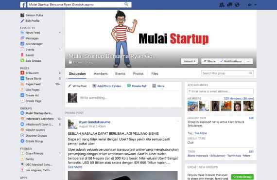 fb mulai startup