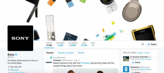 Sony Twitter