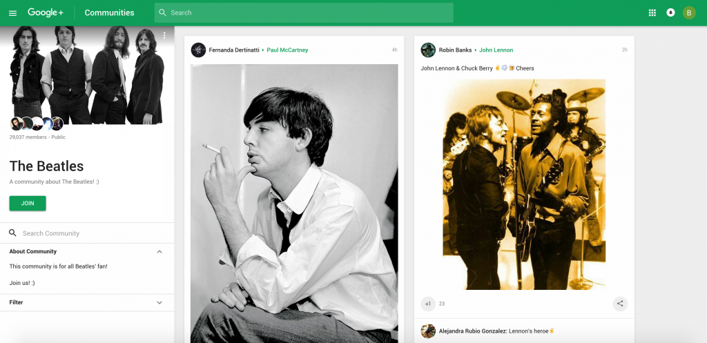 the beatles google plus community