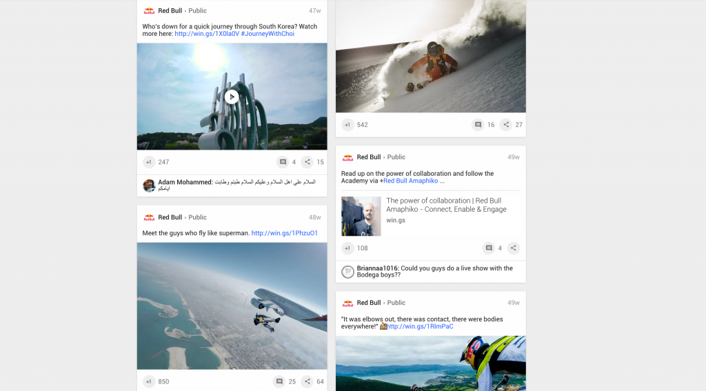 Red Bull Google Plus