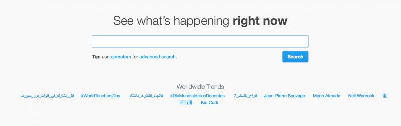 Twitter Trending Topic