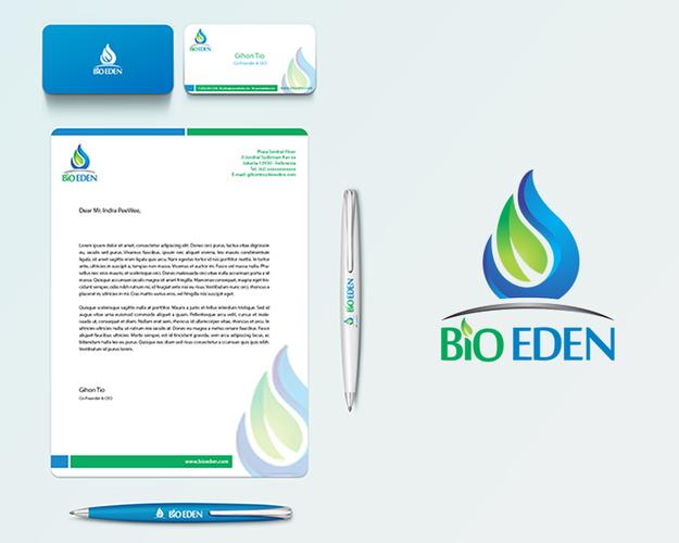 """Desain logo & stationery untuk produk biofuel """"bio eden"""""""