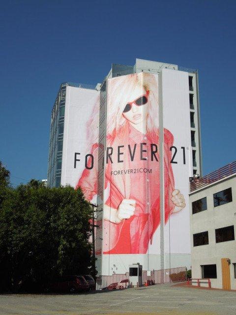 Giant Forever21 billboard