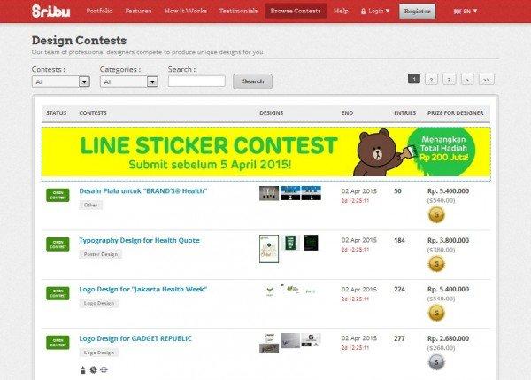 line contest