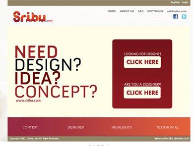 The first Sribu.com homepage