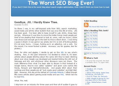 Konten blog ini tidak enak untuk dibaca. Judul bombastis, dan isi tulisan banyak kata kasar.