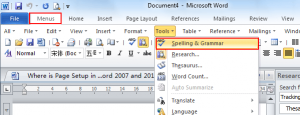 spell and grammar chekcer in ms. word