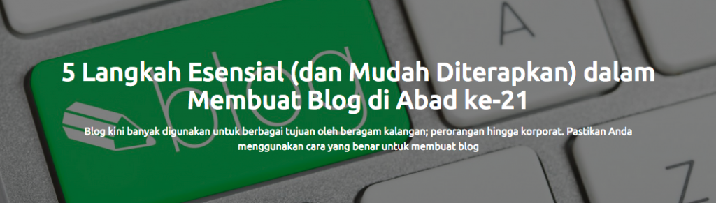 Contoh Headline Posting Blog Sribu
