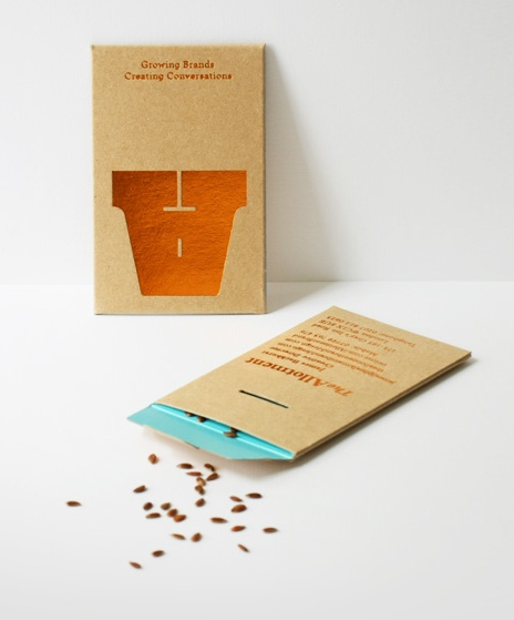 Designer's Seed Packet Business Card