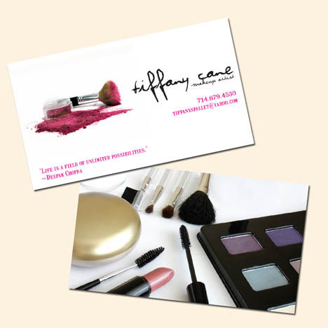 Hair & Make-up Artist Business Card