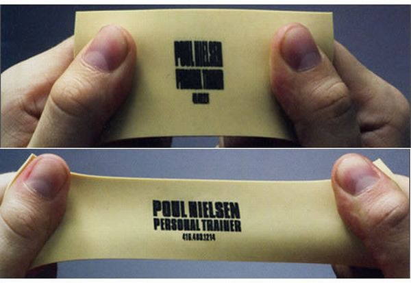Stretchy Personal Trainer's Business Card