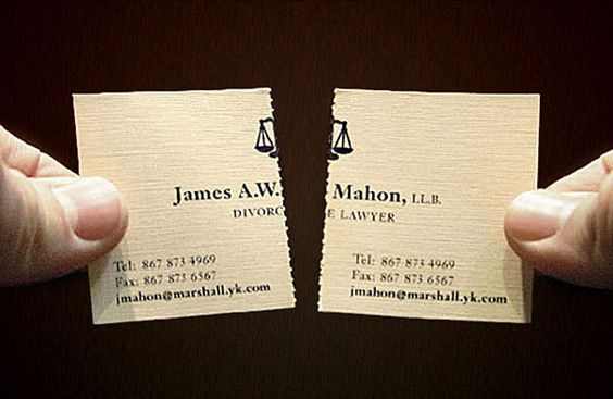 Tearable Divorce Lawyer Business Card