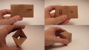 Transformable Cargo Box Business Card