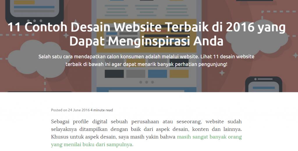 contoh desain website terbaik