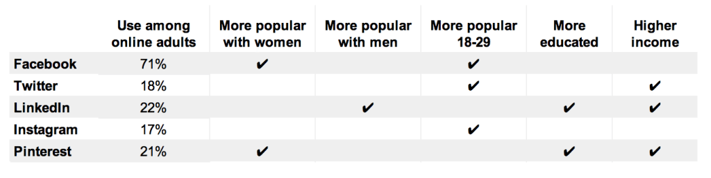 social-network-demographic-categories