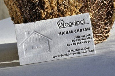 embossed name card