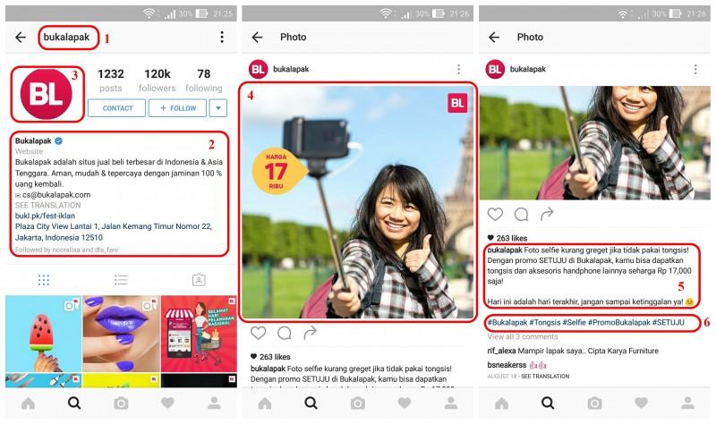 strategi konten Instagram Component