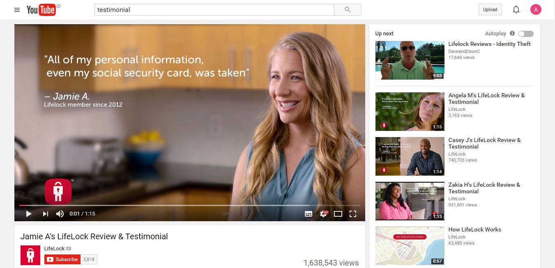 Testimonial Youtube