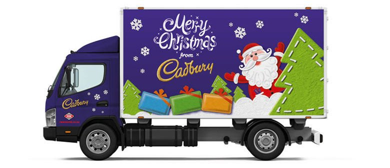 cadbury truck christmas