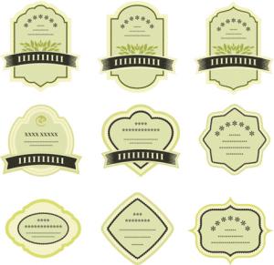 desain awal label sebuah produk
