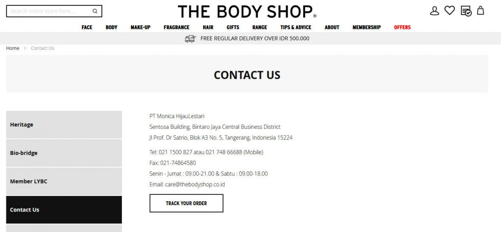 kontak online shop