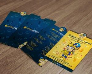 desain kartu ucapan ulang tahun Arjuna Elektronik