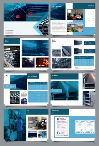 desain company profile PT Lautan Steel Indonesia