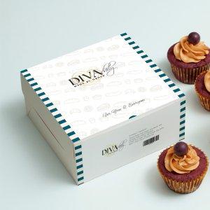 Desain kemasan makanan Diva Cake