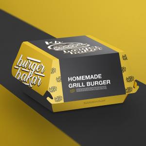 Desain kemasan makanan burger