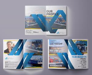 desain company profile perusahaan jasa logistik