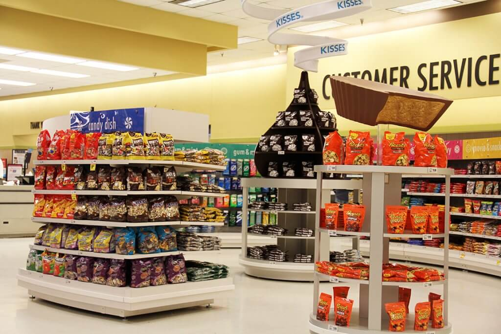 Display produk dalam toko