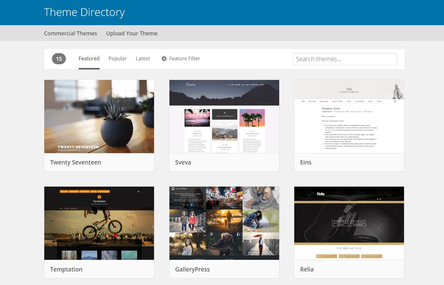 kumpulan tema cara membuat website wordpress