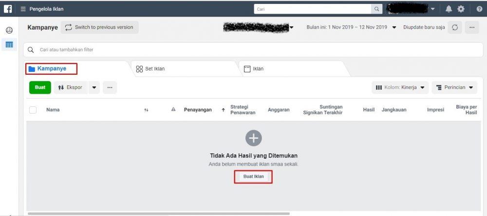 Pilih cara pembuatan iklan facebook