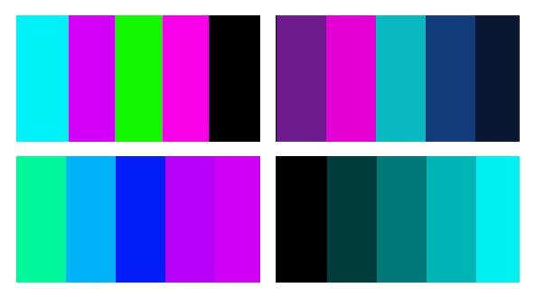 Contoh Cyberpunk Color Palette