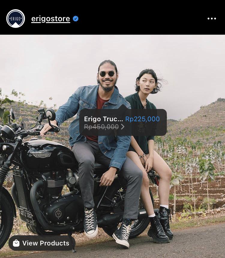 Cara Promosi di Instagram versi Erigo Store