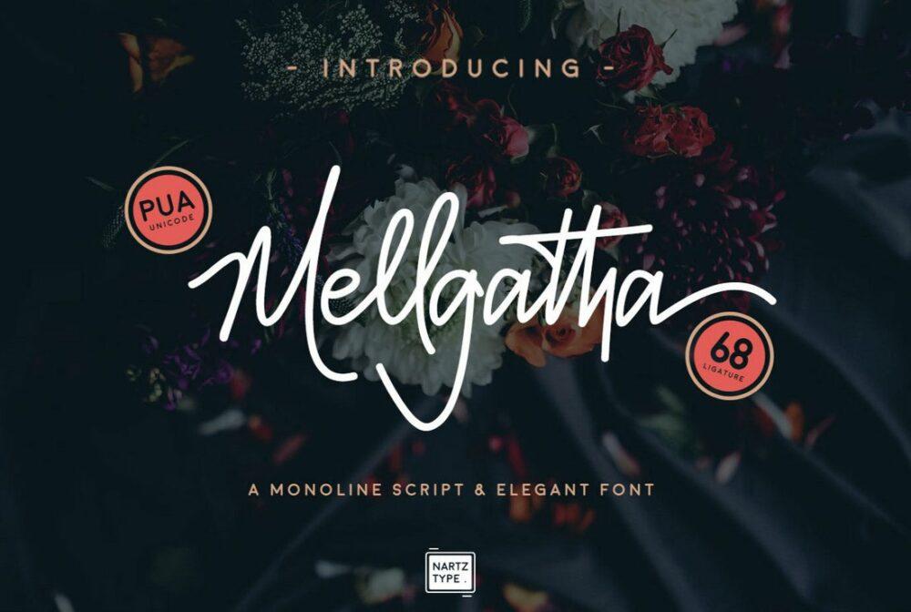 melgatha download font keren