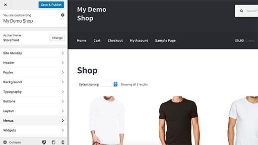 customize theme pada woocommerce cara membuat website toko online di wordpress